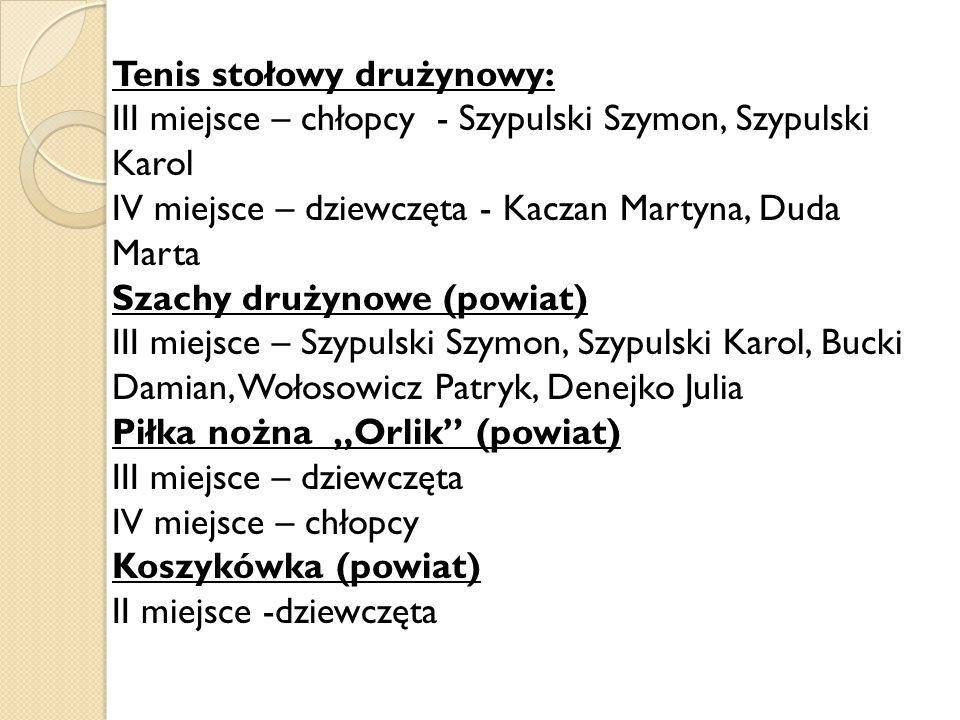 Tenis stołowy drużynowy: