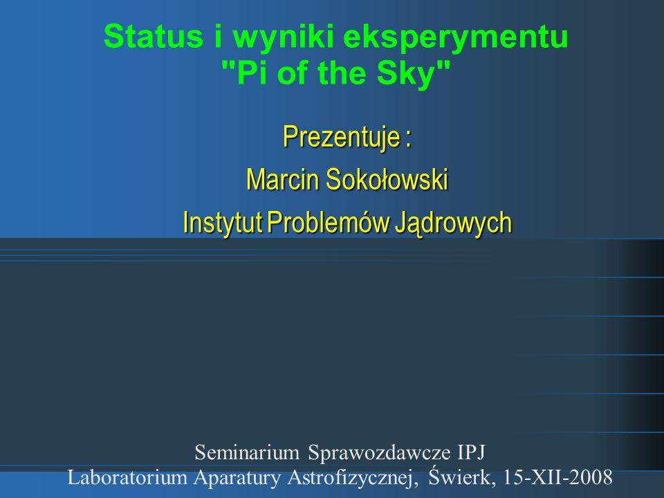 Status i wyniki eksperymentu Pi of the Sky