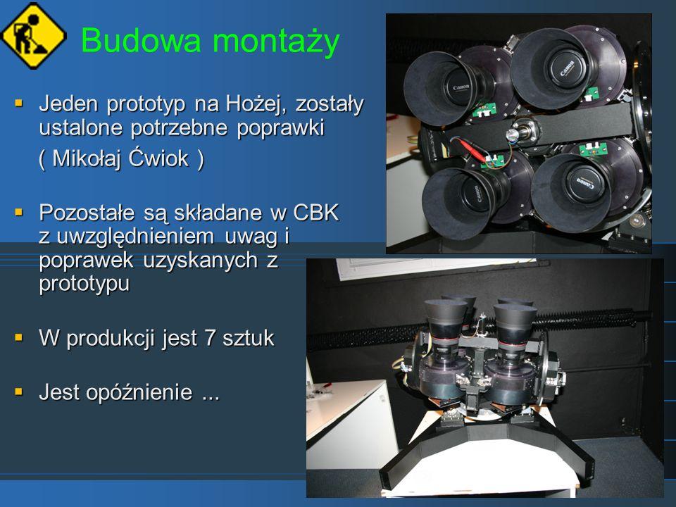 Budowa montażyJeden prototyp na Hożej, zostały ustalone potrzebne poprawki. ( Mikołaj Ćwiok )