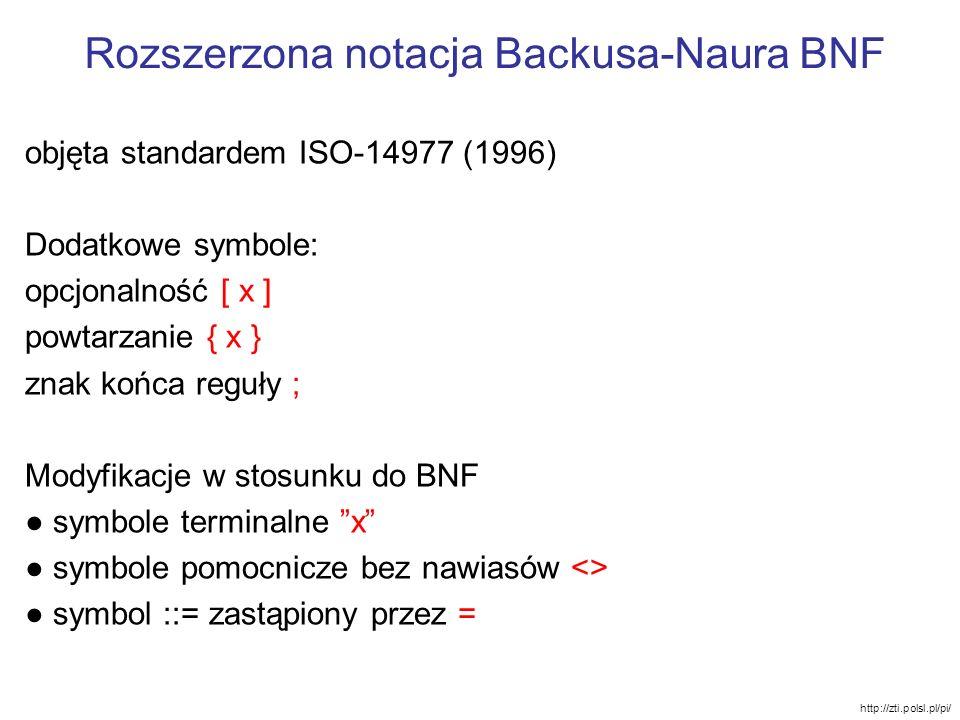 Rozszerzona notacja Backusa-Naura BNF