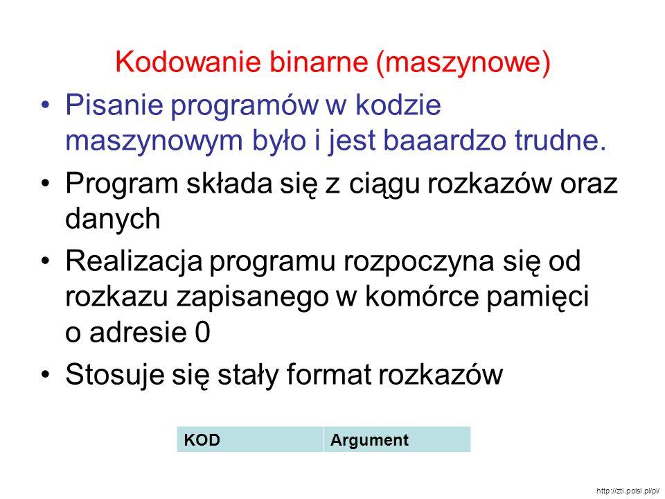 Kodowanie binarne (maszynowe)