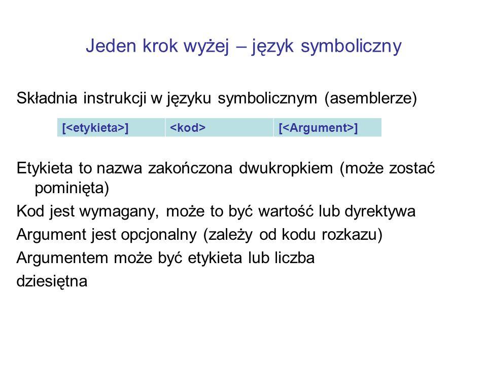 Jeden krok wyżej – język symboliczny