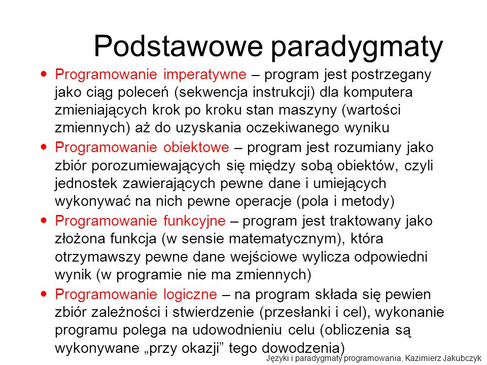 Podstawowe paradygmaty