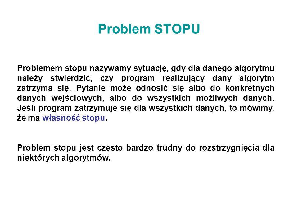 Problem STOPU
