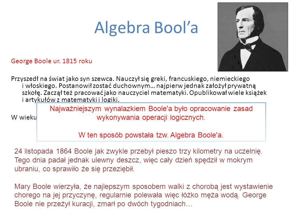 W ten sposób powstała tzw. Algebra Boole a.