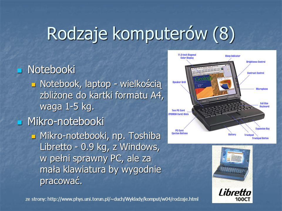 Rodzaje komputerów (8) Notebooki Mikro-notebooki
