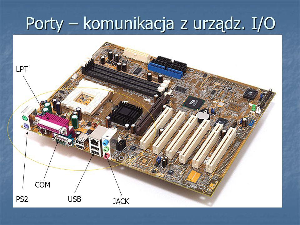 Porty – komunikacja z urządz. I/O