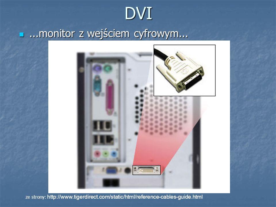 DVI ...monitor z wejściem cyfrowym...