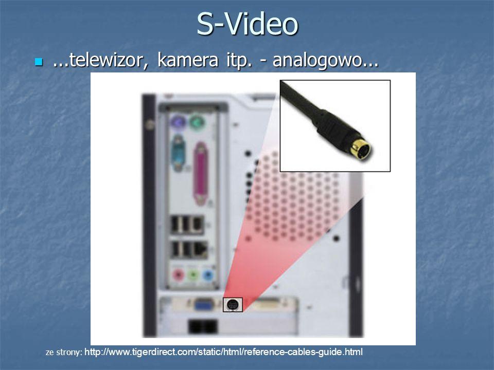 S-Video ...telewizor, kamera itp. - analogowo...