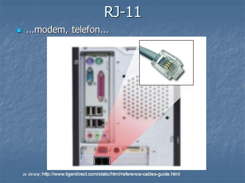 RJ-11 ...modem, telefon...