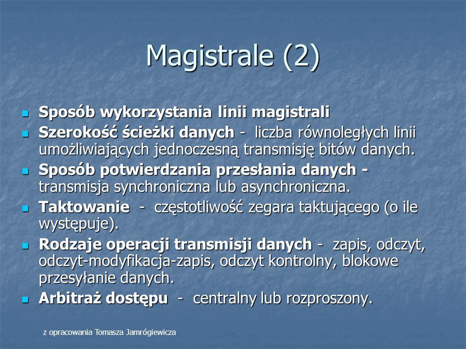 Magistrale (2) Sposób wykorzystania linii magistrali