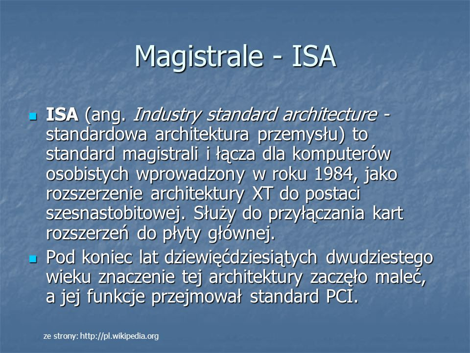 Magistrale - ISA