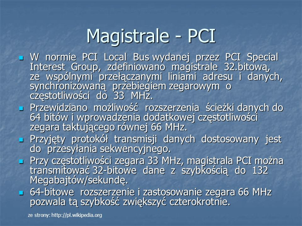 Magistrale - PCI