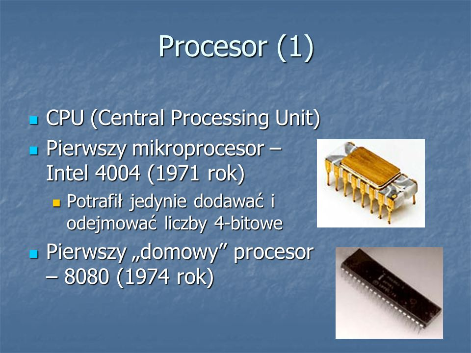 Procesor (1) CPU (Central Processing Unit)