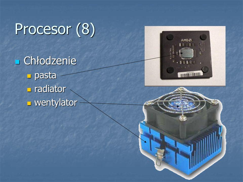 Procesor (8) Chłodzenie pasta radiator wentylator