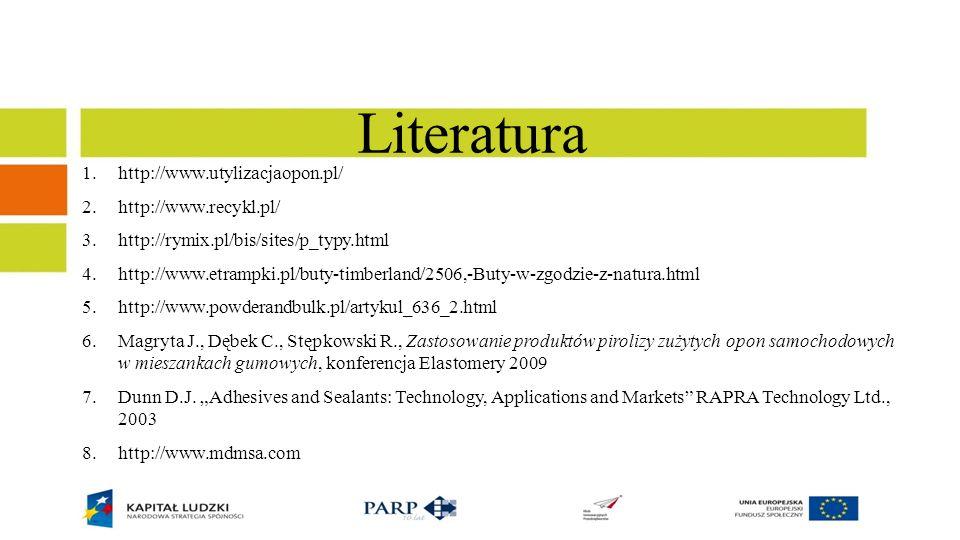 Literatura http://www.utylizacjaopon.pl/ http://www.recykl.pl/