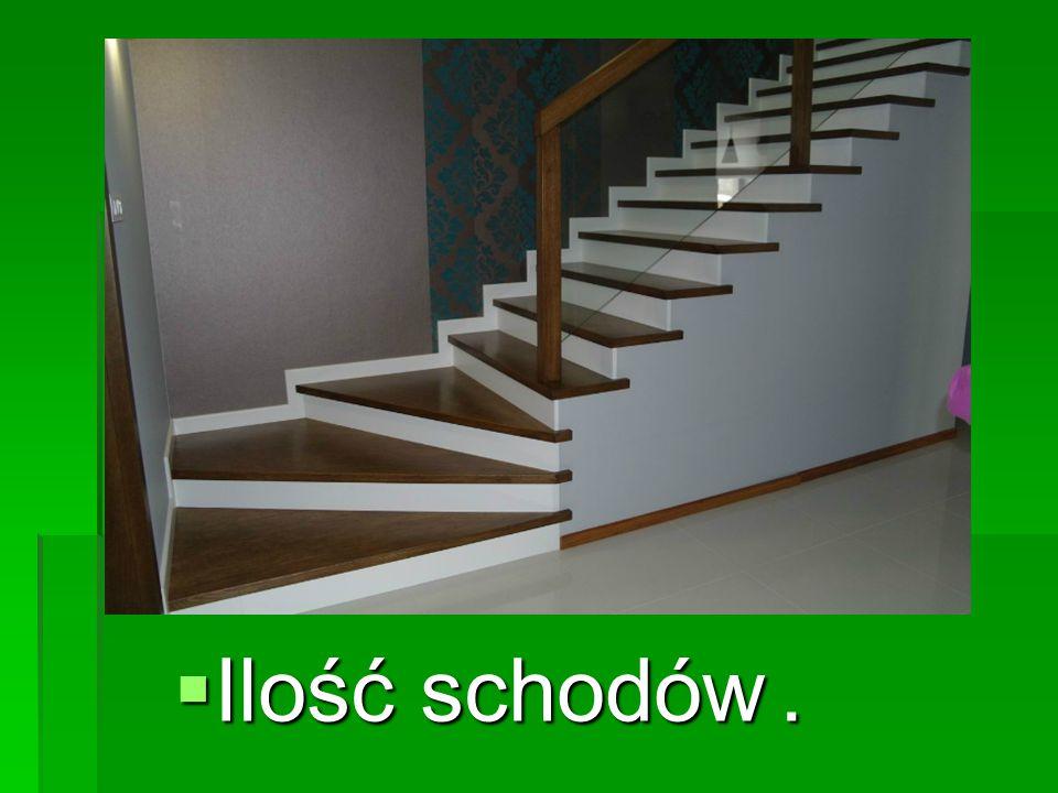 Ilość schodów .