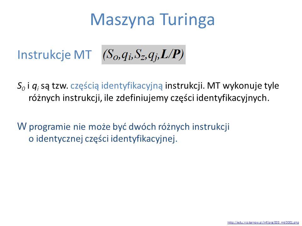 Maszyna Turinga Instrukcje MT