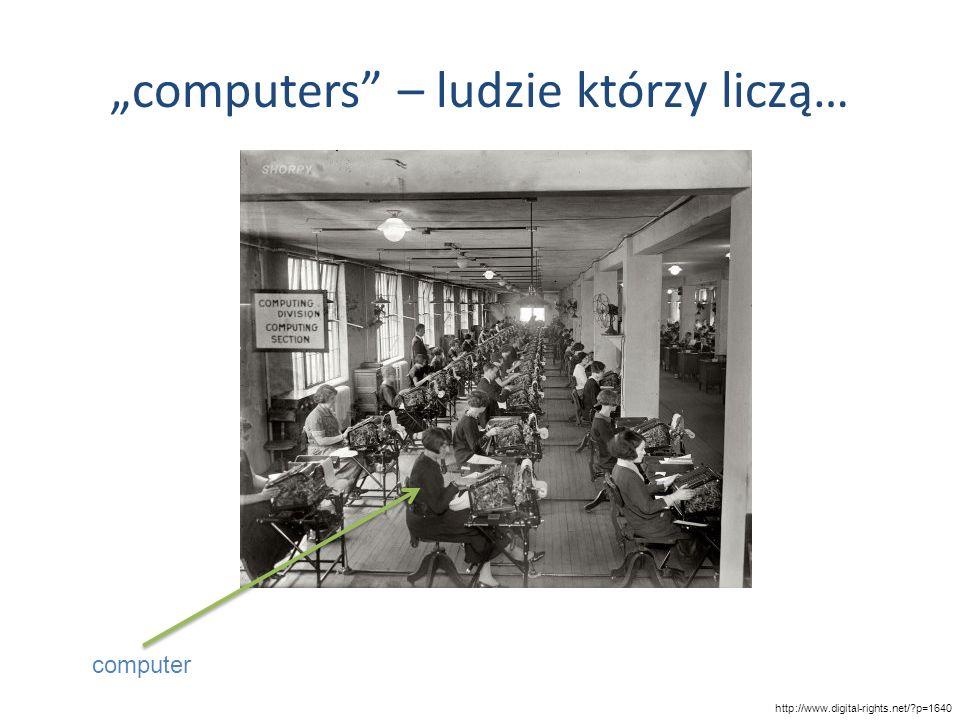 """""""computers – ludzie którzy liczą…"""