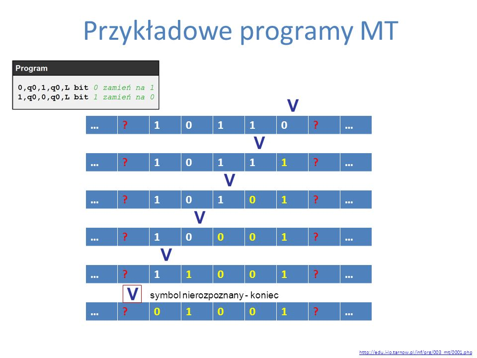 Przykładowe programy MT