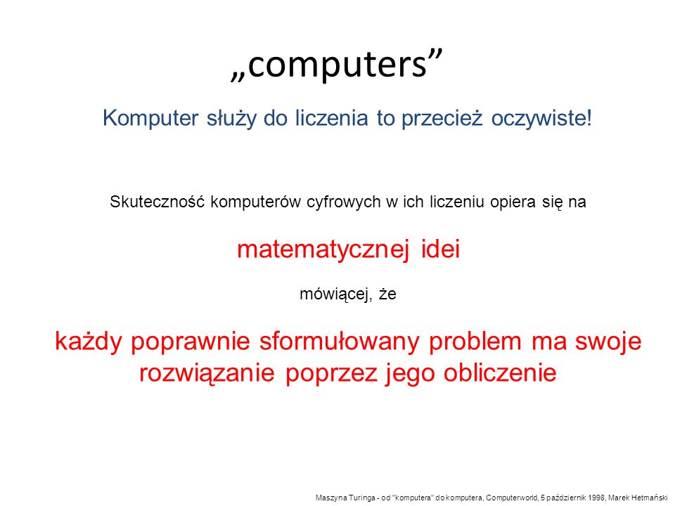 """""""computers matematycznej idei"""