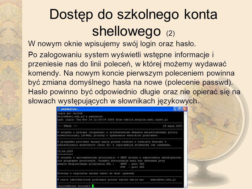 Dostęp do szkolnego konta shellowego (2)