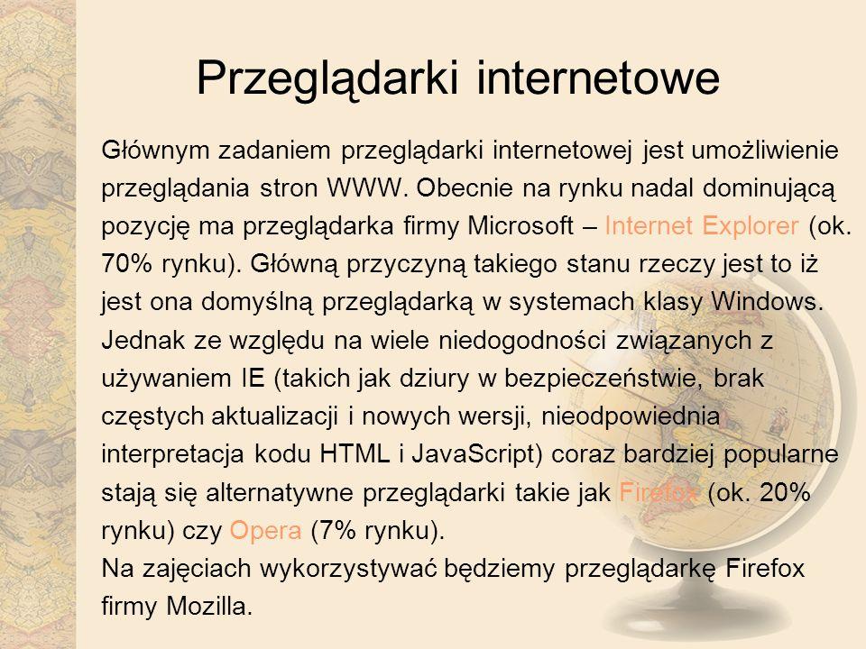 Przeglądarki internetowe