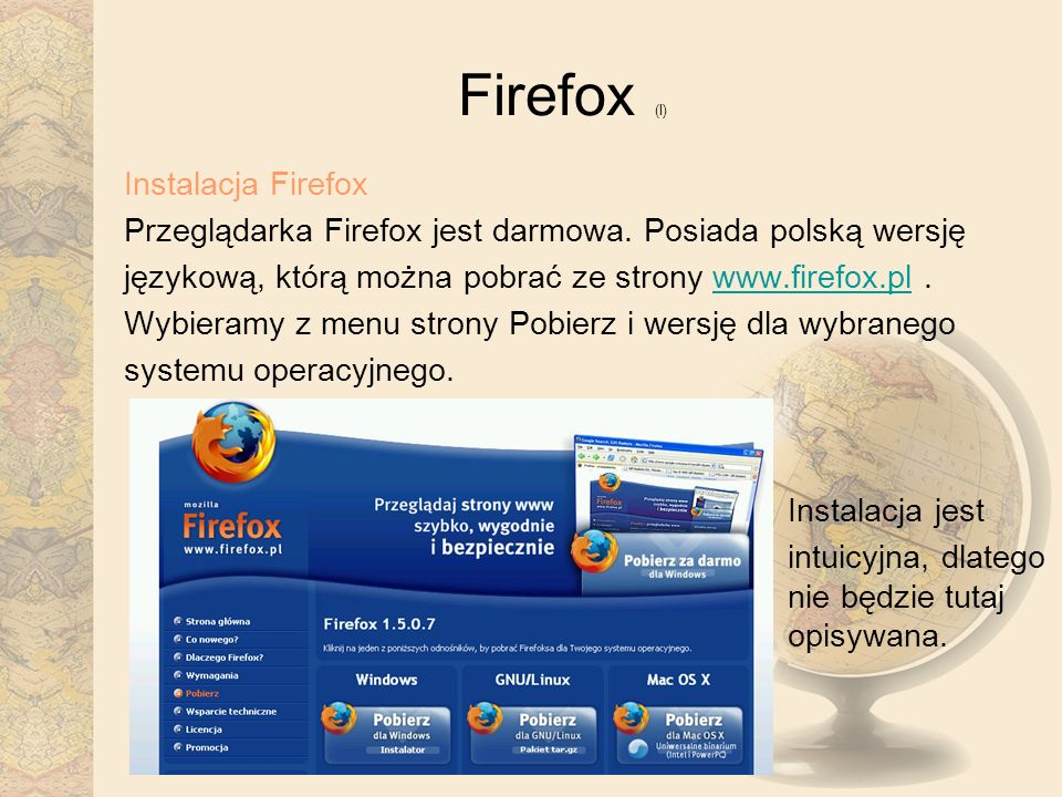 Firefox (I) Instalacja Firefox