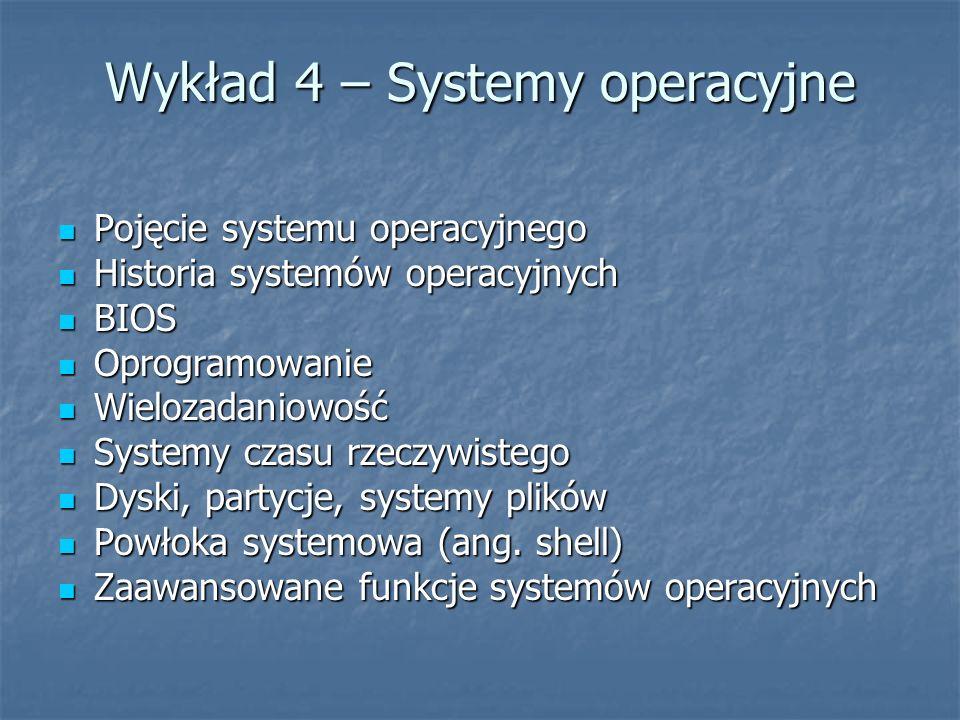Wykład 4 – Systemy operacyjne
