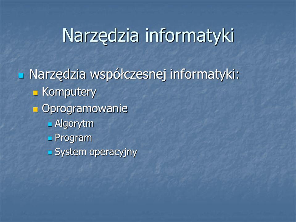 Narzędzia informatyki