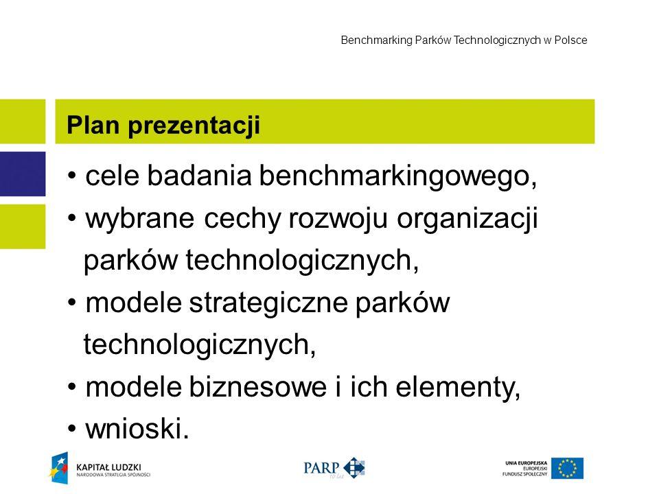 cele badania benchmarkingowego, wybrane cechy rozwoju organizacji