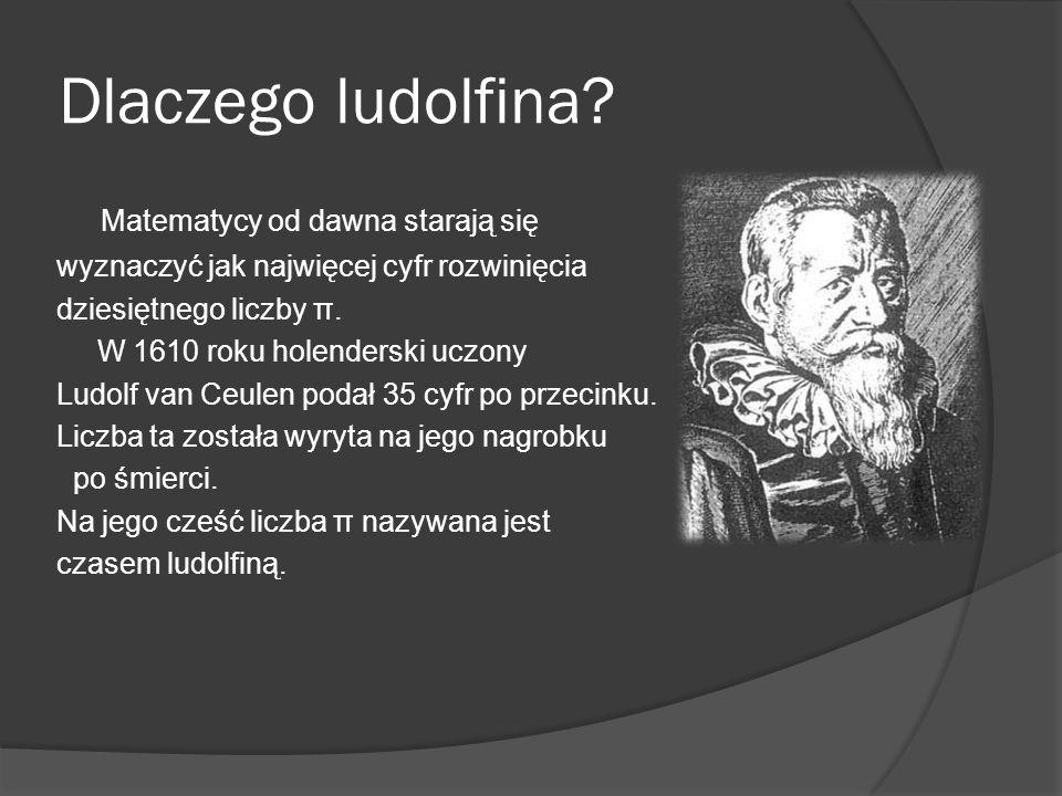Dlaczego ludolfina Matematycy od dawna starają się