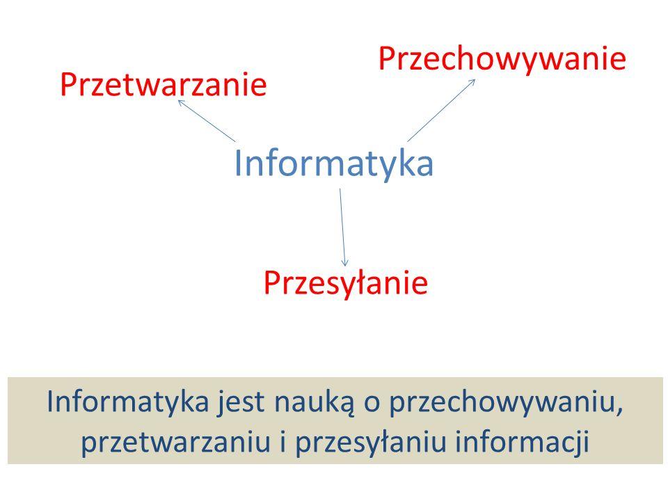 Informatyka Przechowywanie Przetwarzanie Przesyłanie