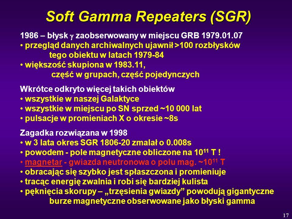 Soft Gamma Repeaters (SGR)