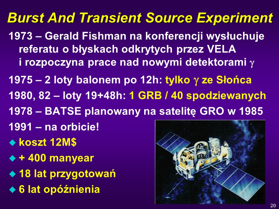 Burst And Transient Source Experiment