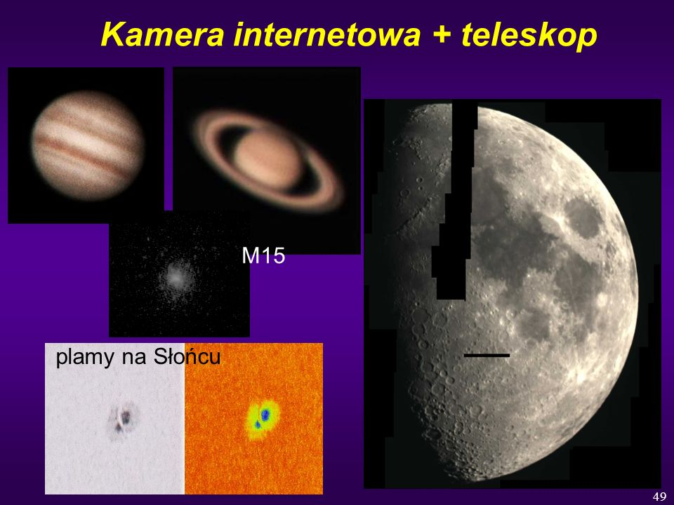 Kamera internetowa + teleskop