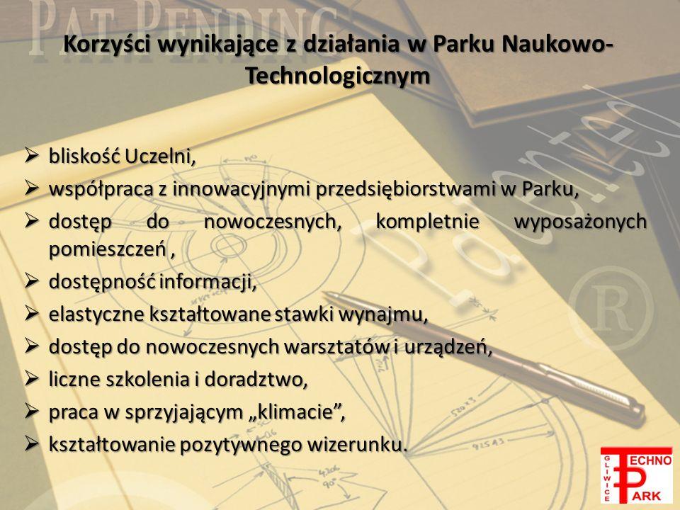 Korzyści wynikające z działania w Parku Naukowo-Technologicznym