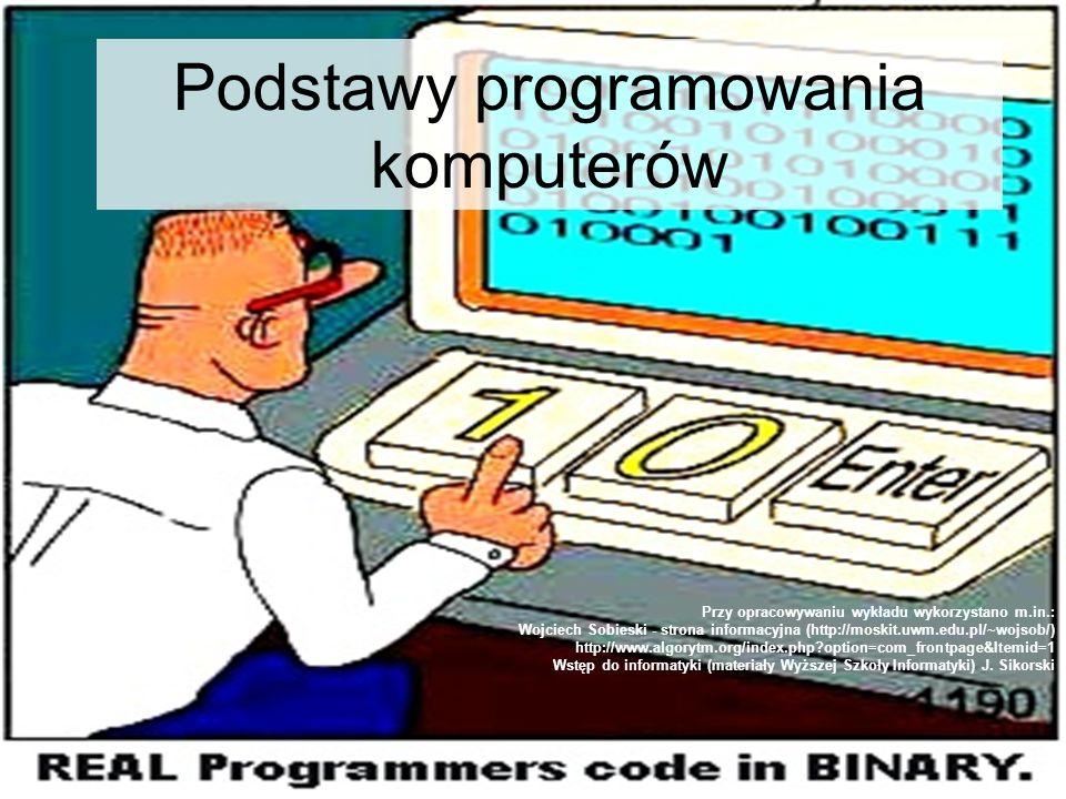 Podstawy programowania komputerów