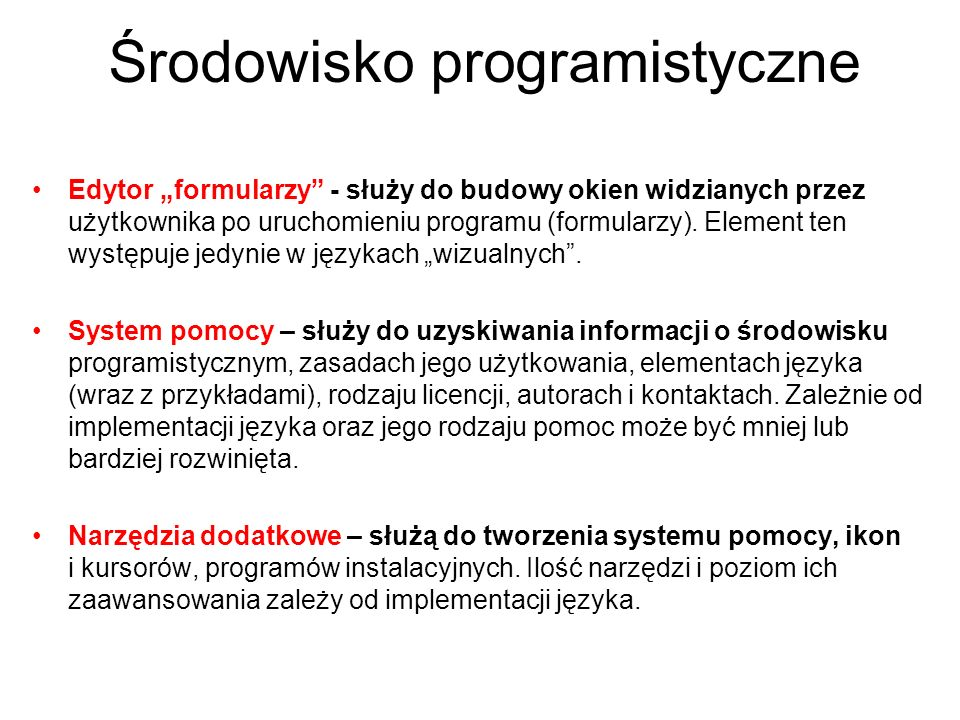 Środowisko programistyczne