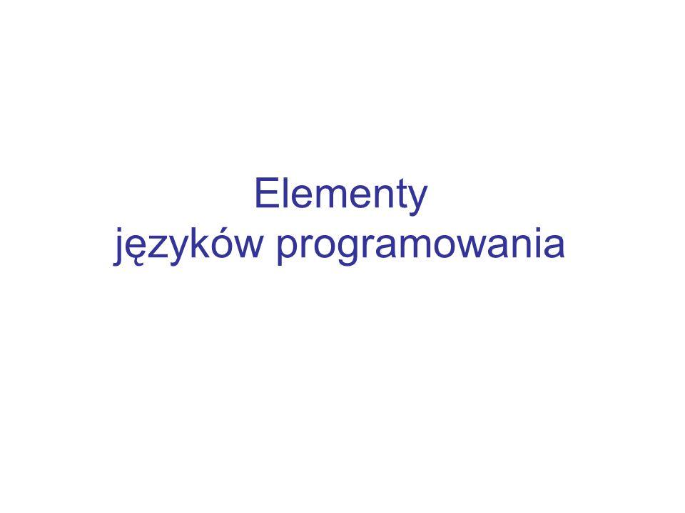 Elementy języków programowania