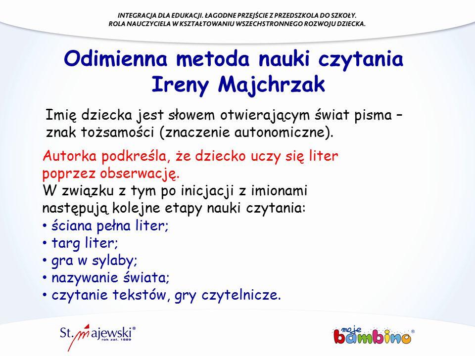Odimienna metoda nauki czytania Ireny Majchrzak