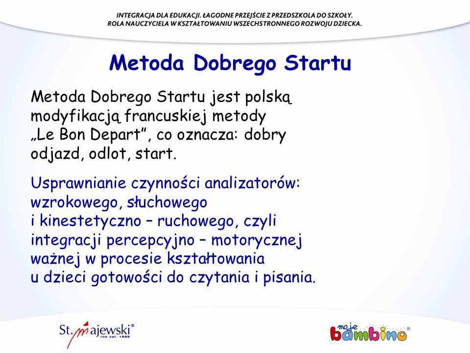 """Metoda Dobrego Startu Metoda Dobrego Startu jest polską modyfikacją francuskiej metody """"Le Bon Depart , co oznacza: dobry odjazd, odlot, start."""