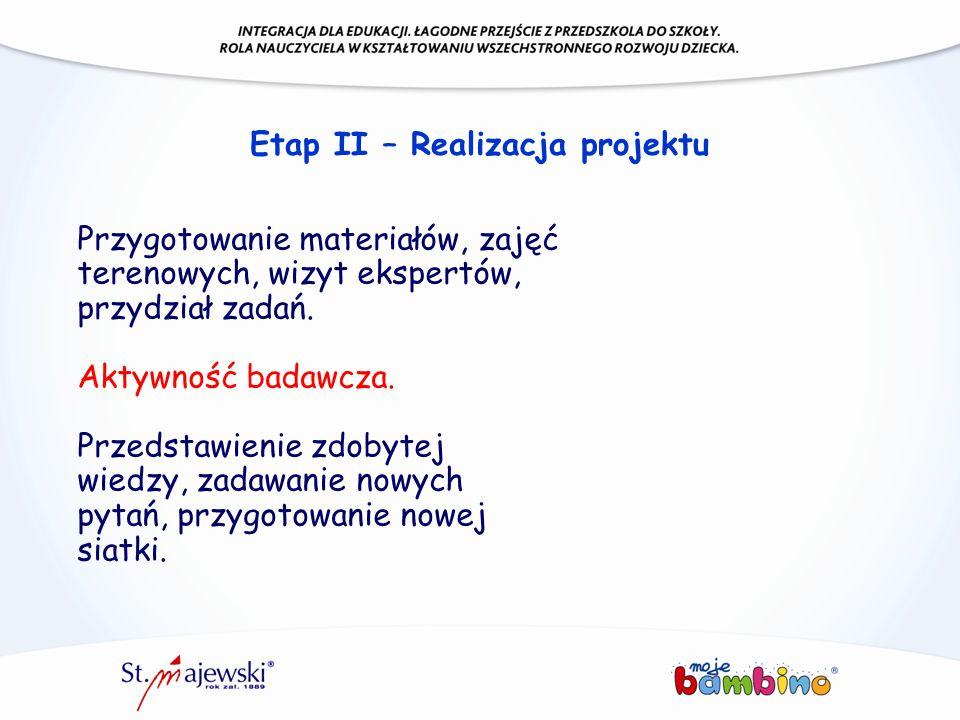 Etap II – Realizacja projektu