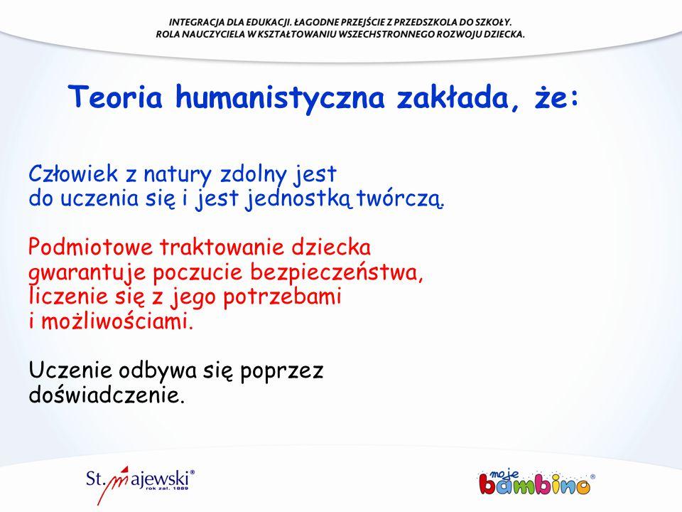 Teoria humanistyczna zakłada, że: