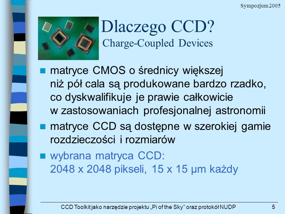 Dlaczego CCD Charge-Coupled Devices