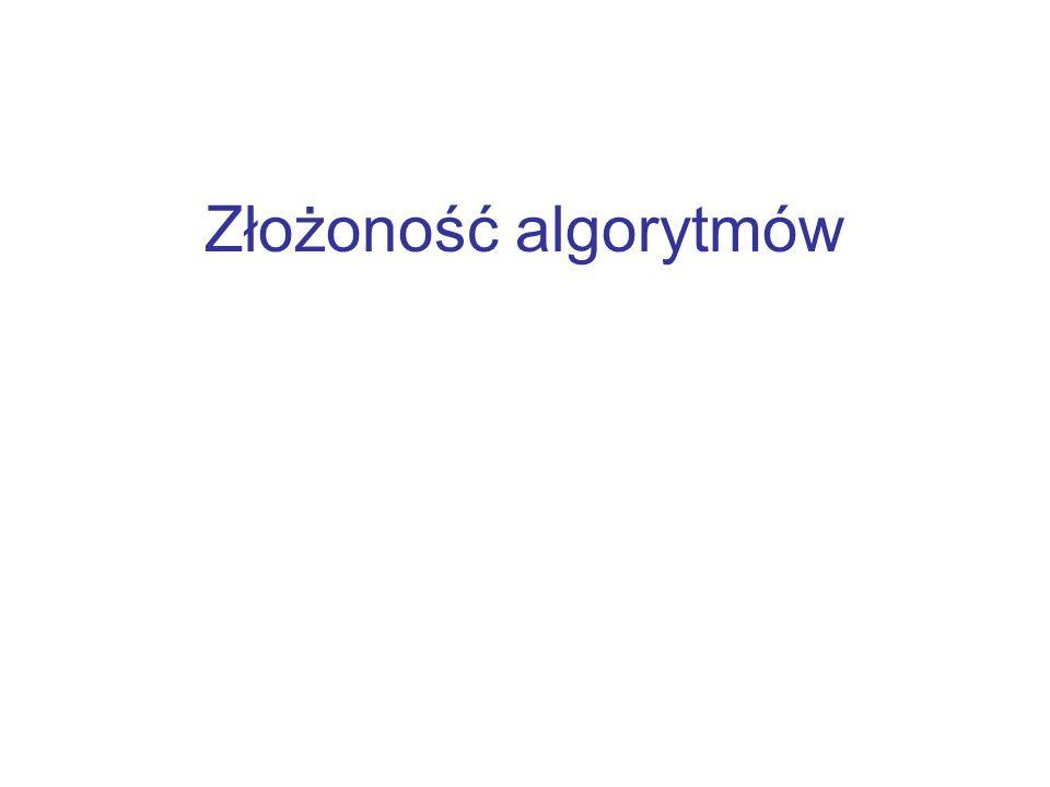 Złożoność algorytmów