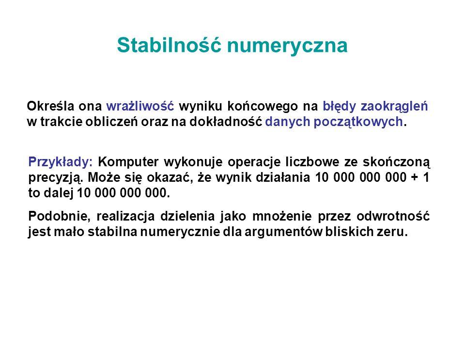 Stabilność numeryczna
