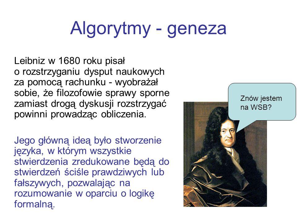 Algorytmy - geneza