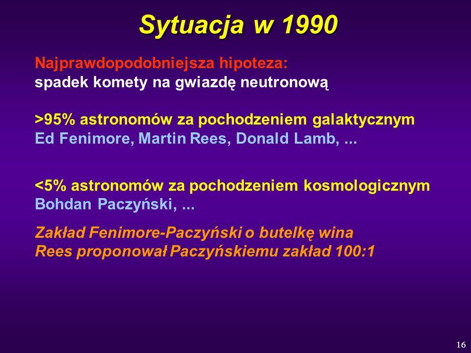 Sytuacja w 1990 Najprawdopodobniejsza hipoteza: