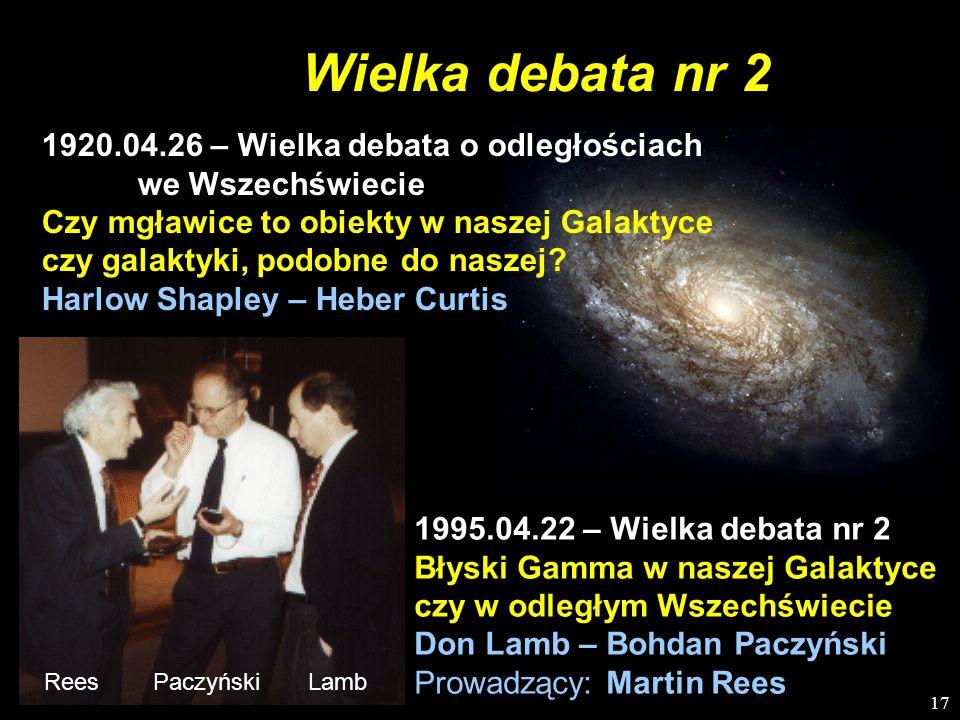 Wielka debata nr 21920.04.26 – Wielka debata o odległościach we Wszechświecie.